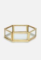 Sixth Floor - Mia hexagon storage tray - gold