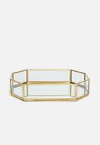 Sixth Floor - Mia rectangular pen tray - gold