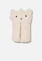 Cotton On - Baby snuggle towel - caramel marle bear