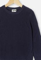 Cotton On - Blair knit crew - indian ink