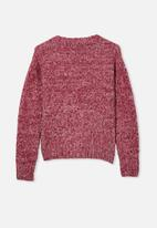 Free by Cotton On - Maggie cropped cardigan - faded burgandy