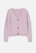 Free by Cotton On - Maggie cropped cardigan - pale violet