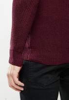 Brave Soul - Recycled knitwear - burgundy