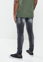 S.P.C.C. - Dark matter super skinny jeans - black