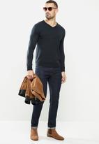 Brave Soul - Quazar knitwear - navy