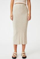 Cotton On - Ultimate knit midi skirt - taupe