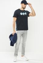 G-Star RAW - Circle object back graphic short sleeve tee - navy