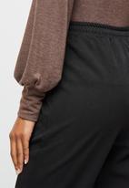 edit - Woven elasticated jogger - black