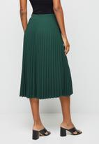 edit - Pleated midaxi skirt - dark emerald