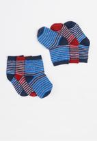 MINOTI - Boys 3 pack ankle socks -  multi