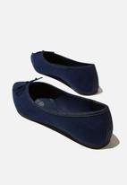 Cotton On - Essential evelyn point ballet - navy micro