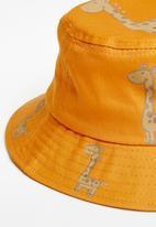 POP CANDY - Boys giraffe bucket hat - orange