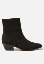 Cotton On - Marlie minimal western boot - black