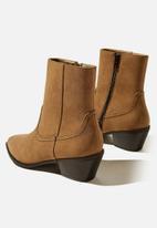 Cotton On - Marlie minimal western boot - tan