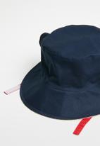 POP CANDY - Reversible bear bucket hat - navy & beige