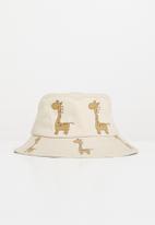 POP CANDY - Boys giraffe bucket hat - beige