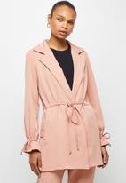 edit - Utility belted jacket - rose