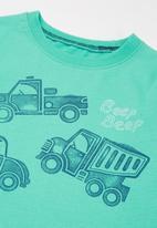 POP CANDY - Boys car tee - green