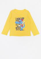 POP CANDY - Boys look up tee - yellow