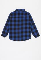 POP CANDY - Boys check shirt - blue & black