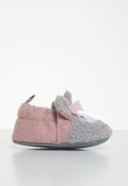 POP CANDY - Baby girls character slippers - grey & pink