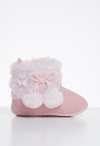 POP CANDY - Baby girls pom pom boots - pink