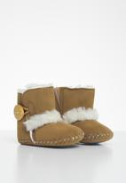 POP CANDY - Baby girls faux fur boots - brown
