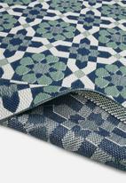 Hertex Fabrics - Paros ocean rug  (80x200)