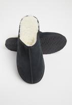 Karu - Mule suede wool inner slipper - black