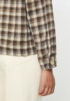 Cotton On - The trucker shacket - brown & neutral