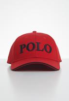 POLO - Mens Alex 3d embroidered peak - red