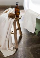 Barrydale Hand Weavers - Large country towel - stripes on end - natural