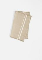 Barrydale Hand Weavers - Contemporary placemats - stripes on end set of 2 - stone