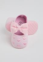 POP CANDY - Baby girls pump with bow - light pink
