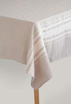 Barrydale Hand Weavers - Contemporary table cloth - stone