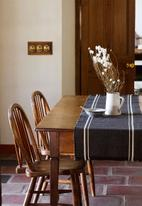 Barrydale Hand Weavers - Contemporary table runner - with stripes - charcoal