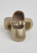 POP CANDY - Baby girls flower pumps - champagne