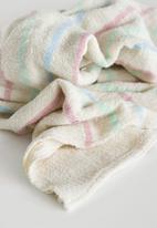 Barrydale Hand Weavers - Baby blanket - stripes throughout - multi