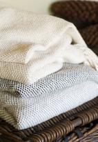 Barrydale Hand Weavers - Thick weave blanket - natural