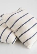 Barrydale Hand Weavers - Country cushion cover - navy & cream