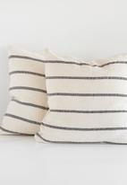 Barrydale Hand Weavers - Country cushion cover - charcoal & cream