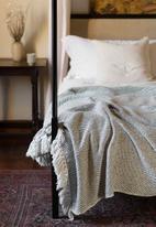 Barrydale Hand Weavers - Thick weave blanket - grey