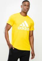 adidas Performance - Bl sj T-shirt - yellow & white