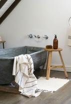 Barrydale Hand Weavers - Large country towel - charcoal & cream