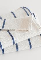 Barrydale Hand Weavers - Large country towel  - navy & cream