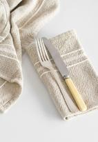 Barrydale Hand Weavers - Contemporary napkin - variegated stripes - stone set of 2