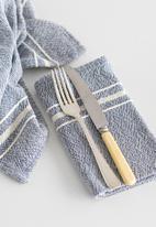 Barrydale Hand Weavers - Contemporary napkin - variegated stripes - indigo set of 2