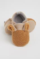 POP CANDY - Boys bear slipper - brown