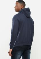 SOVIET - Noble pull over hooded sweat top - navy