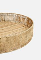Sixth Floor - Mica tray with jute rim - natural
